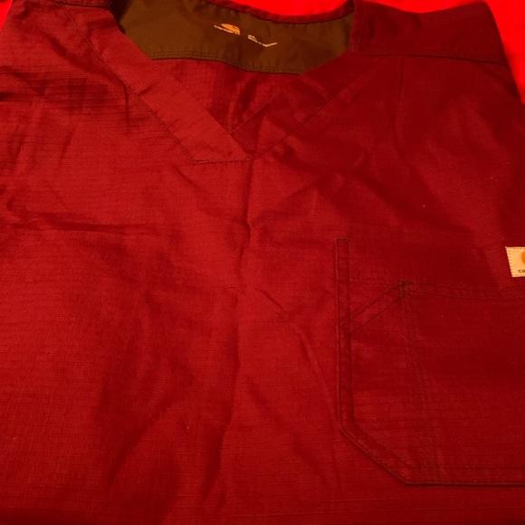 Carhartt Tops - Carhartt scrub top. Size xl maroon in color.